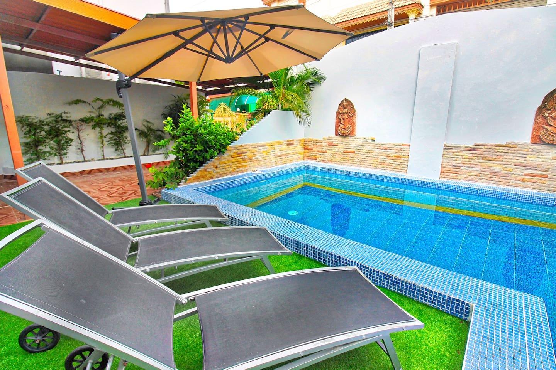 Big Private Pool Villa with Free Wifi+A/C+Netflix photo 16502798
