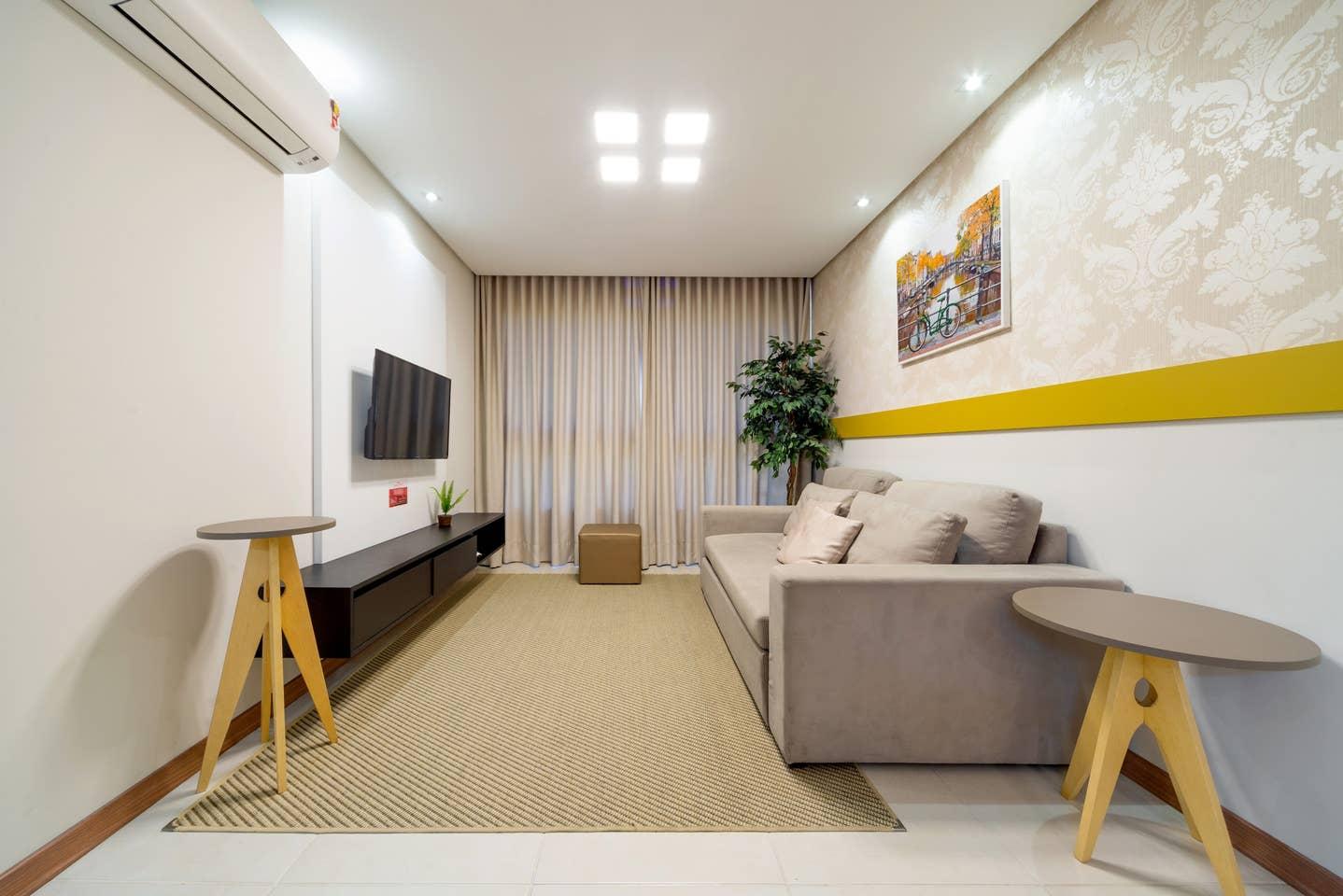 Apartamento incrível com 2 quartos que acomoda 6 pessoas