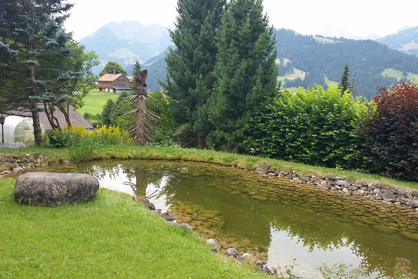 Apartment Gstaad Duplex Flat - Amazing Lake Chalet with pond photo 26049778
