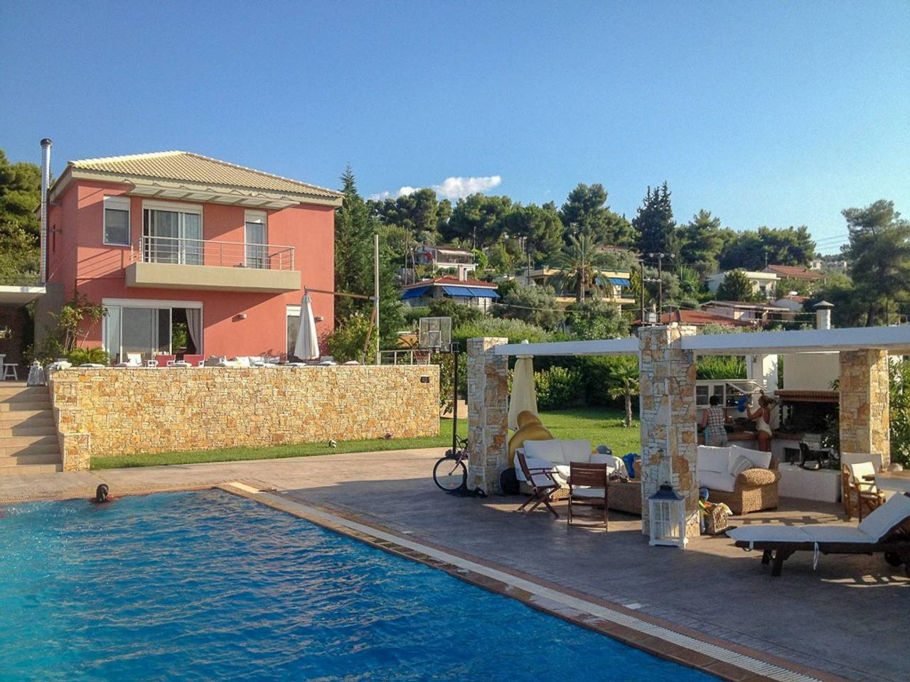Holiday apartment Beautiful Villa for 10 with private pool on six acres! (2604594), Skala Oropou, , Attica, Greece, picture 29